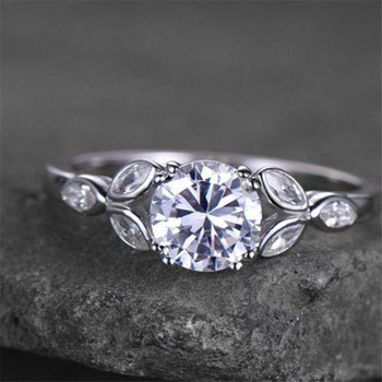 Round Cut Cubic Zirconia Engagement Ring Wedding Ring Promise Ring