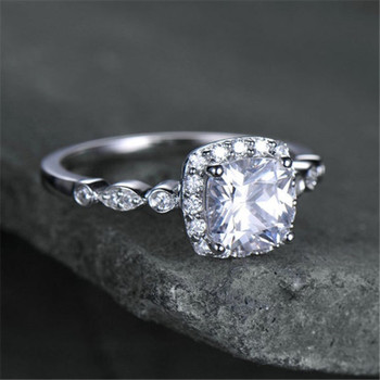 Cushion Cut Cubic Zirconia Engagement Ring  Wedding Ring Promise Ring