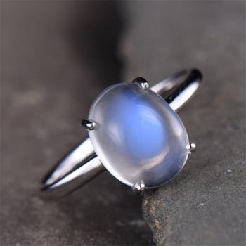 Moonstone Ring  Rainbow Moonstone Ring Solitaire Ring Gemstone Ring