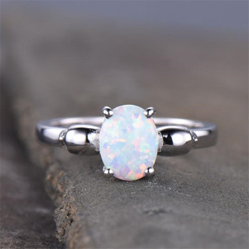 Dainty Opal Engagement Ring Skull Ring Sterling Silver Opal Ring Bridal Opal Ring