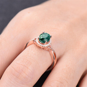Alexandrite Ring Infinity Ring 6*8mm Oval Color Changed Gemstone Engagement Ring