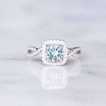 Sterling Silver Ring Aquamarine Ring Engagement Promise Ring Wedding Promise Ring