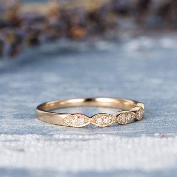 Half Eternity Band Diamond Wedding Bridal Ring