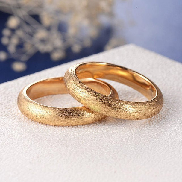 Father's Day Wedding Band  Minimalist Matte Brushed Plain Men Ring 1psc