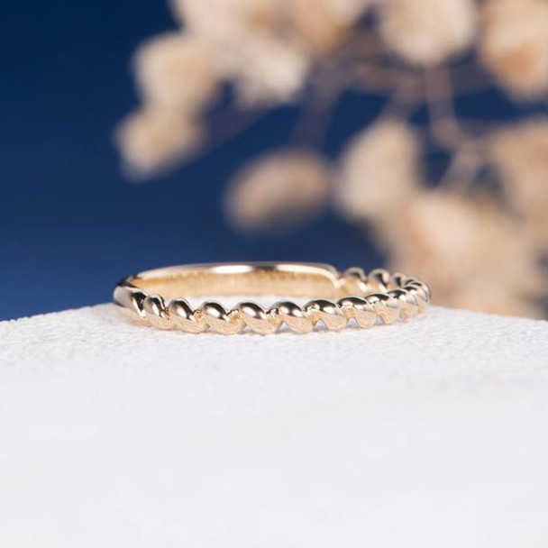 Twist Band 2/3 Eternity Stacking Band