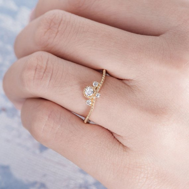 Three Stones Moissanite Curved Wedding Band Engagement Ring