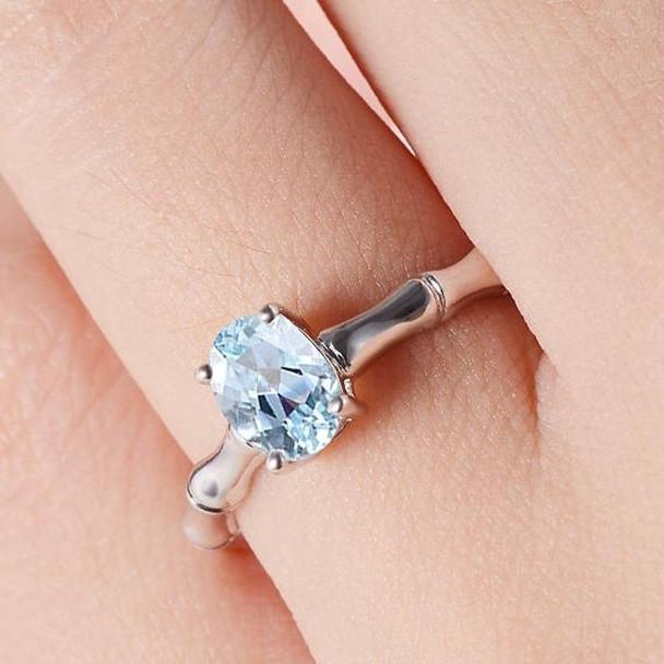 Oval Cut Engagement Ring Aquamarine Ring Birthstone Wedding Ring