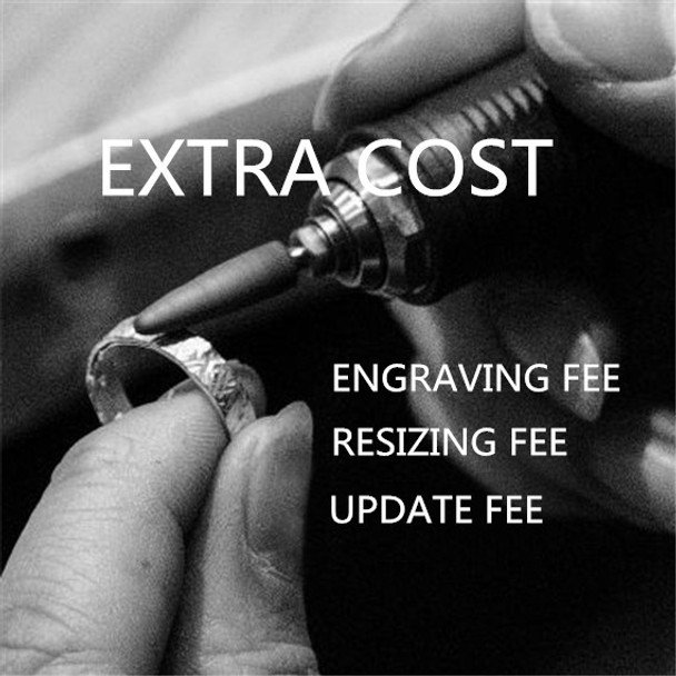 Extra cost, Engraving Cost, Update Fee