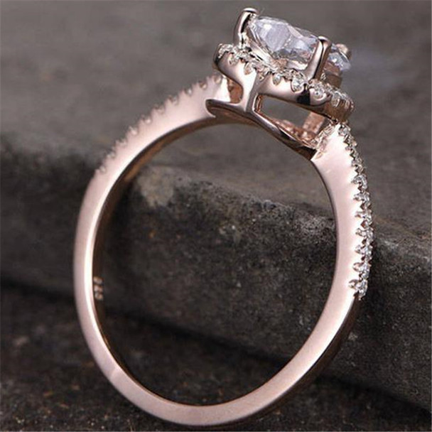 Heart Shaped Cubic Zirconia Engagement Ring CZ Wedding Ring Promise Ring