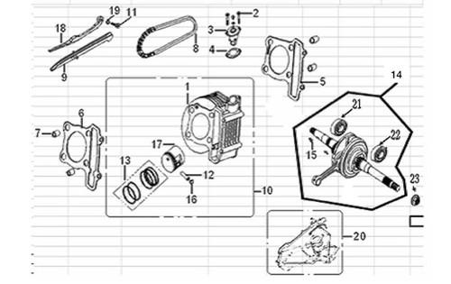 14-Crankshaft ASSY-E-02CYLINDER-HS