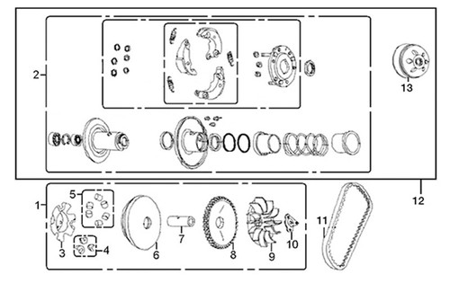 12-Pulley assy driven-E-11-HS