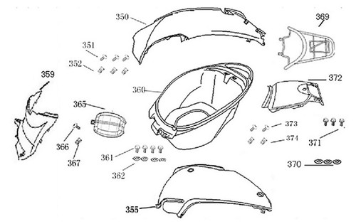 350-RIGHT BODY COVER-F-13-HS