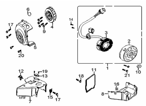 01-Stator Coil / Magneto Assembly-E-10-RS
