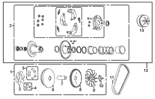12-Driven Pulley ASSY-E-11-RS