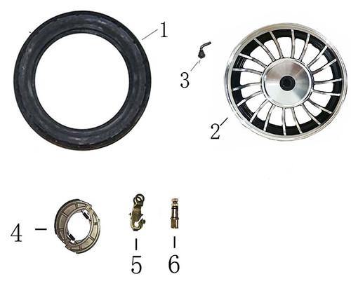 01-TIRE ASSY F-04Rear Wheel / Brake Assembly