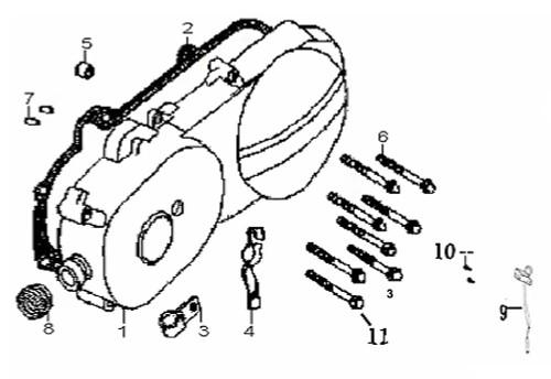 04 Throttle Cable Clip