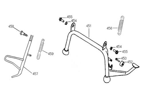 458 Screw Side Stand  Pivot