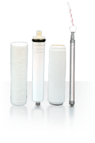 Filter Replacement Set: Three-Stage Reverse Osmosis System with UV 4-Pin (RU300C18 w/ UV4-Pin)