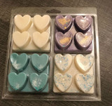 4 x 4 cell Heart Clamshell for Wax Melts