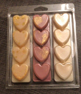 3 x 4 cell Heart Clamshell for Wax Melts