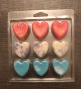 9 cell Heart Clamshell for Wax Melts