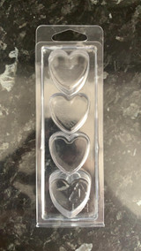 4 Hearts Oblong Clamshell for Wax Melts