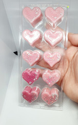 10 Cell Heart Clamshell for Wax Melts