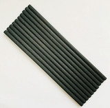 Thick Black Fibre Reeds 6mm x 175mm