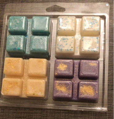 4 x 4 cell Square Clamshell for Wax Melts