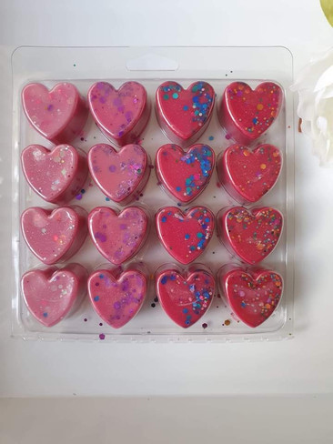 16 cell Heart Clamshell for Wax Melts