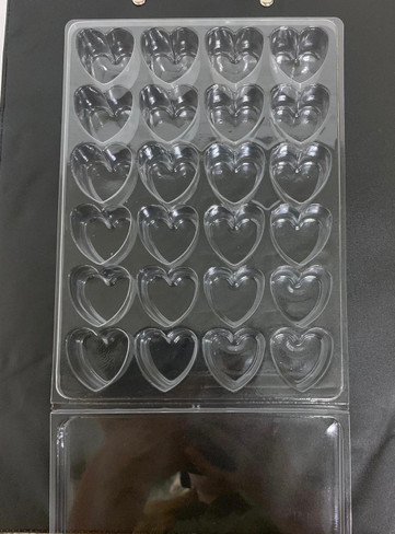 24 cell heart Clamshell for Wax Melts