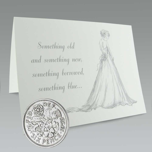 sixpence wedding coin
