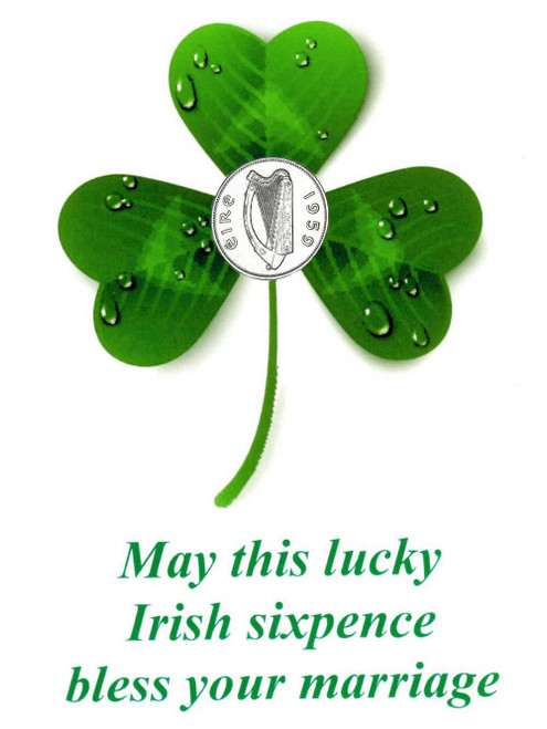 irish sixpence wedding coin
