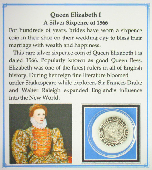 Queen Elizabeth I Sixpence coin