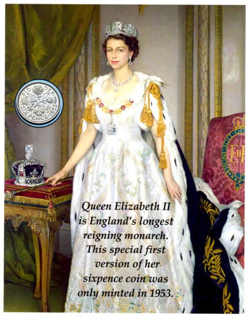 Queen Elizabeth sixpence