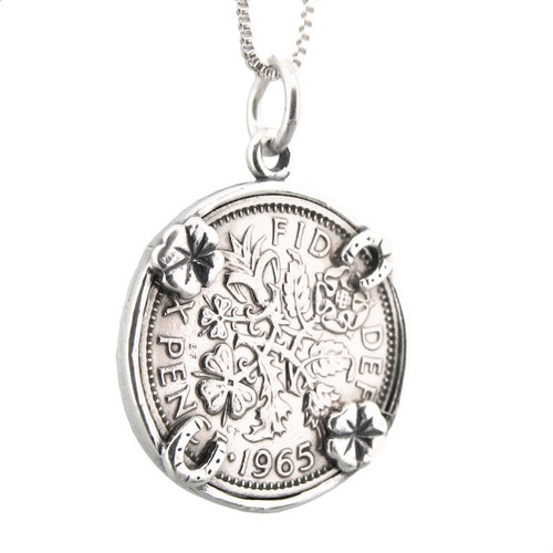 A Sixpence Pendant for Good Luck