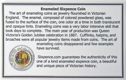 enamel english sixpence
