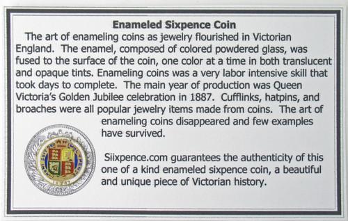 enamel english sixpence