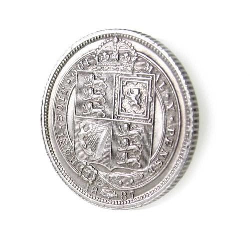 1887 sixpence