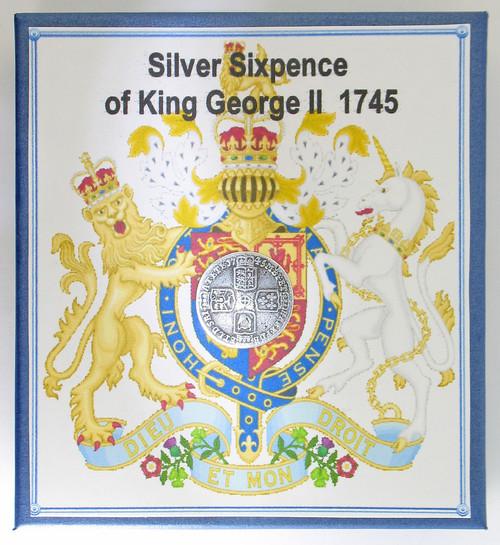 King George II sixpence