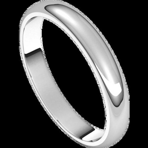 3mm 14kt White Gold Wedding Band