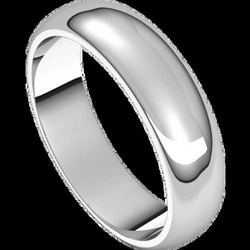 5mm 14kt White Gold Wedding Band