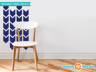 Chevron Arrows Fabric Wall Decals - Set of 26 Chevron Pattern Decals - Sunny Decals
