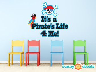 It's a Pirate Life For Me Fabric Wall Decal - Sunny Decals