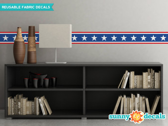 American Stars Wall Border Fabric Wall Decal - Sunny Decals