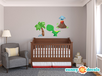 Dinosaur Wall Decals - T-Rex Set - Sunny Decals