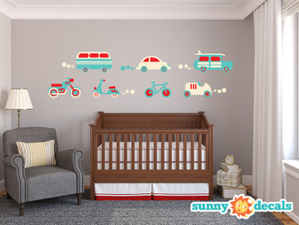 Transportation Wall Decals - Sunny Decals