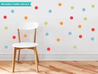 Polka Dots Wall Decals - Rainbow - 2 inch - Sunny Decals