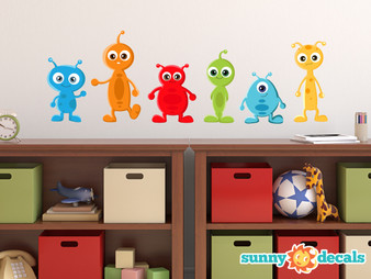 Alien Fabric Wall Decals - Sunny Decals