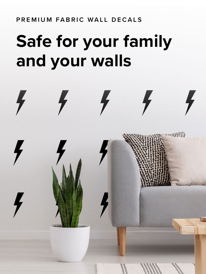 Non Toxic Fabric Wall Decals Sunny Decals